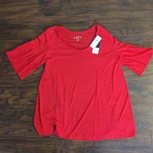 NWT LOFT maternity flutter sleeve t-shirt